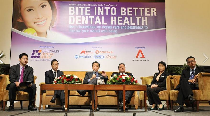 dental specialists on stage