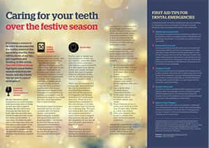 PRIME, December 2015: Caring for your teeth over the festive season